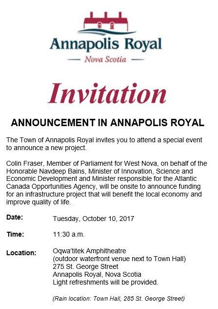 ACOA funding announcement
