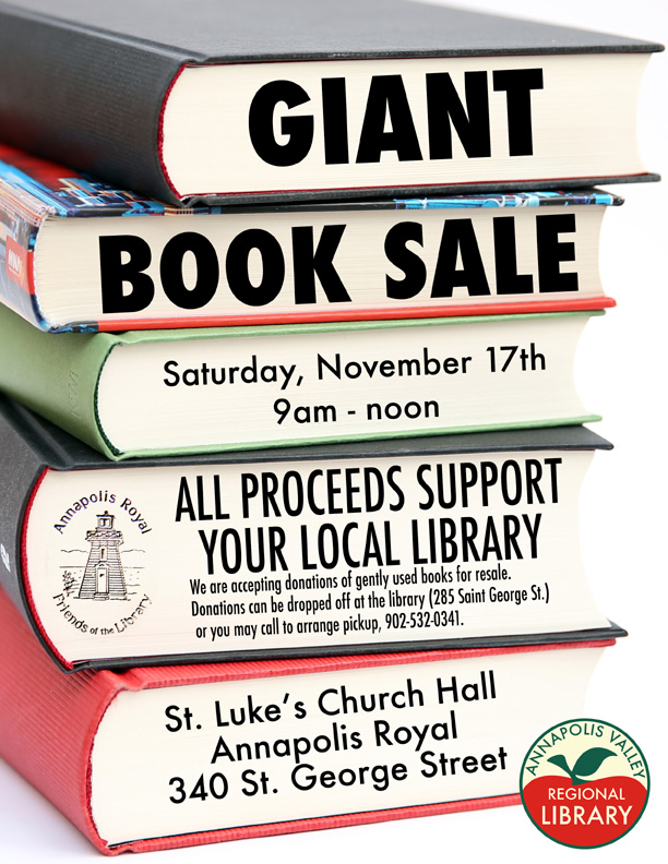 2018 book sale poster small